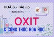 Oxit là gì, công thức và cách gọi tên của Oxit, phân loại Oxit và bài tập - hoá 8 bài 26
